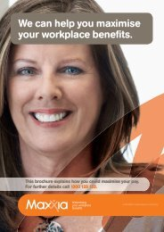 We can help you maximise your workplace benefits.