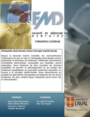 Orthopédie dento-faciale versus chirurgie maxillo-faciale - 2