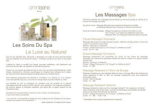 Les Soins Du Spa Le Luxe au Naturel - La Bastide Saint Georges