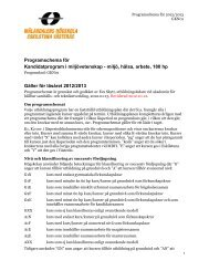 (GKN01), Västerås (pdf 210 kB) - Mälardalens högskola