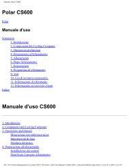 Manuale d'uso CS600 - Doctorshop.it