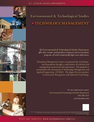 Technology ManageMenT - St. Cloud State University