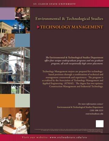 Technology ManageMenT - St. Cloud State University