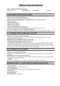 Säkerhetsdatablad - Page 2