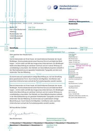 Abteilung, Bildungszentrum, Musterstadt Muster AG Herrn Max ...