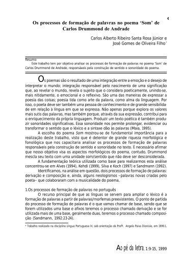 artigo 2 - Carlos Alberto e José Gomes - Revista Ao Pé da Letra