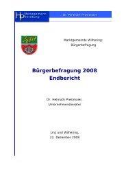 Bürgerbefragung (381 KB) - .PDF - Gemeinde Wilhering