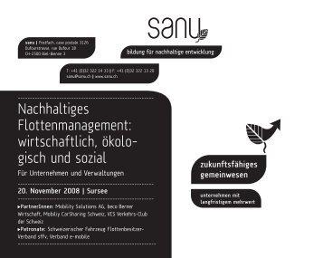 Nachhaltiges Flottenmanagement - www.energiestadt.ch