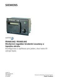 RVA65.642 / RVA65.643 Ekvitermní regulátor ... - M Elektronika