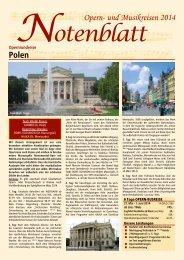Polen Opern- und Musikreisen 2014 - SabTours Wels