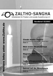 W eitere Infos unter www .Zaltho .de - Zaltho-Sangha
