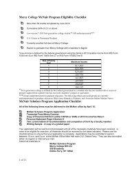 Mercy College McNair Program Eligibility Checklist McNair Scholars ...
