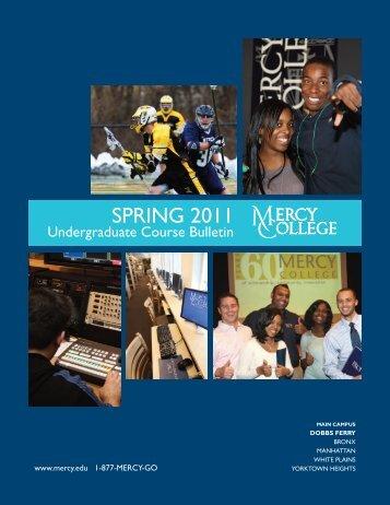 Spring 2011 Undergraduate Course Bulletin - Mercy College