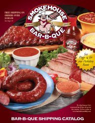 BAR-B-QUE SHIPPING CATALOG - Smokehouse BBQ