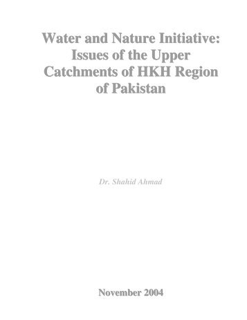 Water and Nature Initiative: Issues of the Upper Catchments ... - IUCN