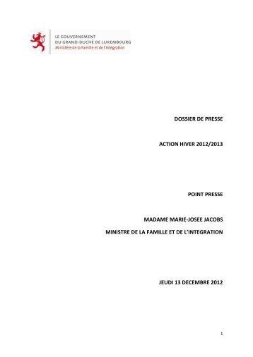 Action hiver 2012/2013 - Gouvernement du Grand-Duché de ...