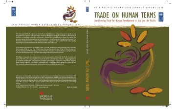 Trade on human terms - Arab Human Development Reports