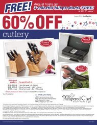 US August Host Special - Pampered Chef