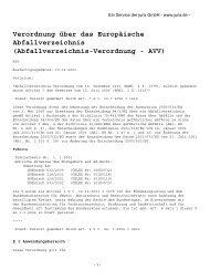 Abfallverzeichnis-Verordnung - AVV - Fischer Abfallentsorgung GmbH