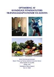 MFT Synops Optimering af fitnessatleters ... - Marina Aagaard