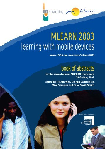 MLEARN 2003: learning with mobile devices - CiteSeerX
