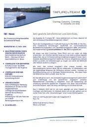 Newsletter Dezember 2010 - Tafuro & Team