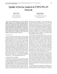 Quality of Service Analysis in UMTS-WLAN Network - MIT Publications