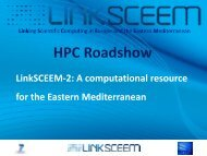 2013 Roadshow LinkSCEEM-2 Overview