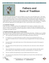 Fathers and Sons of Tradition - White Bison