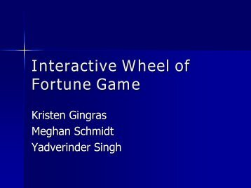 Interactive Wheel of Fortune Game