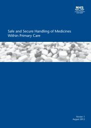 Safe and Secure Handling of Medicines Within ... - GGC Prescribing