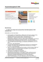 Ausschreibungstext D 1001 - BAUEXPERT