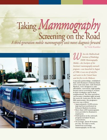 Taking Mammography Screening on the Road - Mallinckrodt ...