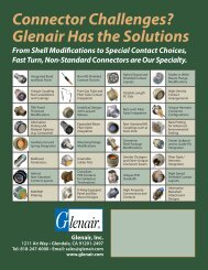 Connector Challenges? Glenair Has the Solutions - Glenair, Inc.