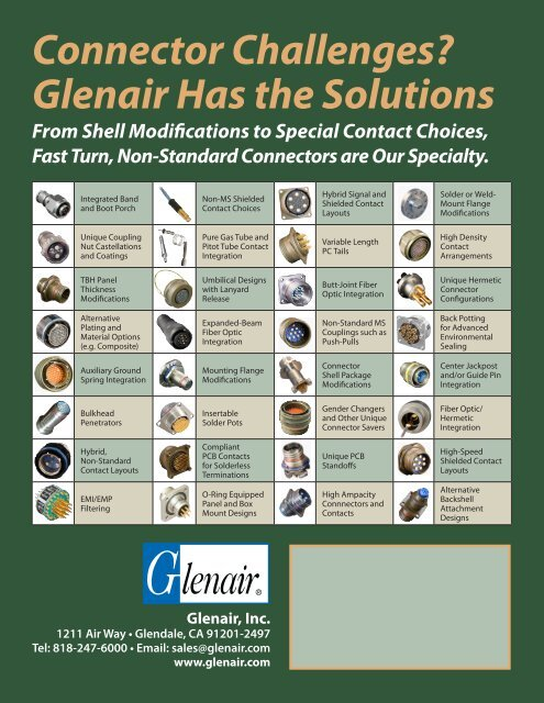 Connector Challenges? Glenair Has the Solutions - Glenair, Inc
