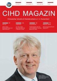 CIHD Magazin 14 11/2011 - Chinesischer Industrie- und ...