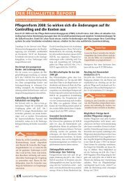 """Pflegereform 2008: So wirken sich die Ã""""nderungen auf Ihr ..."""