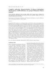 Complete molecular characterisation of glucose-6-phosphate - MJPath