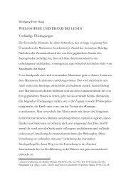Philosophie und Praxis bei Lenin - Wolfgang Fritz Haug