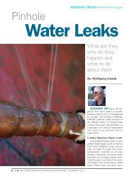 Water Leaks - Association of Condominium Managers of Ontario