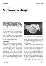 Software-Verträge - Vis