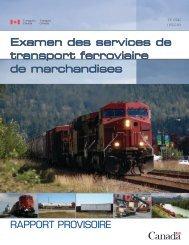 Rapport provisoire - Transports Canada