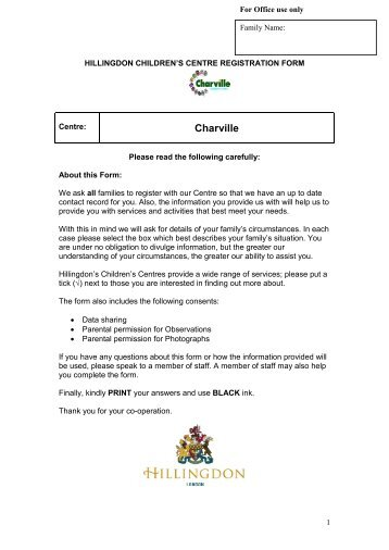 Registration Form - Charville Primary School
