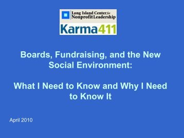 Boards, Fundraising, and the New Social Environment ... - Karma411