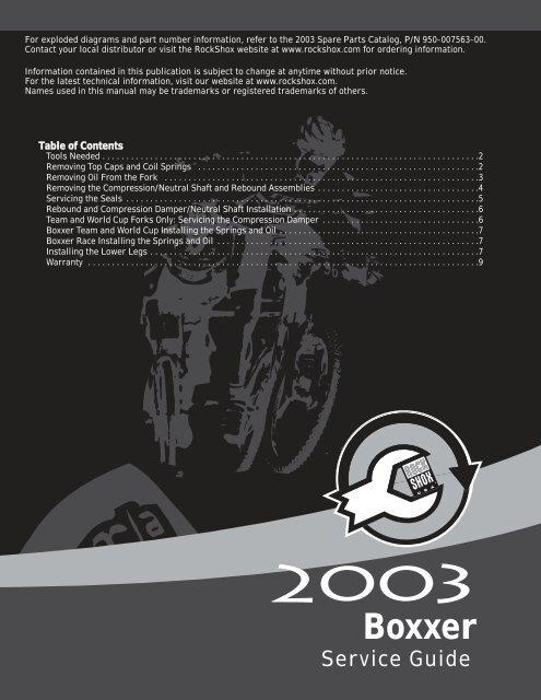 2003 boxxer service guide pdf