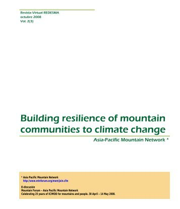 Building resilience of mountain communities to climate change Asia ...