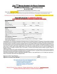montana governor's cup walleye tournament - Montana Walleyes ...