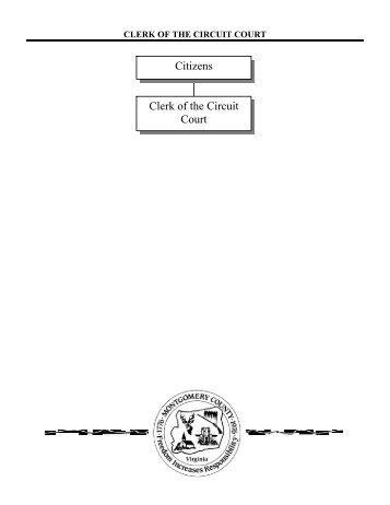 Citizens Clerk of the Circuit Court - Montgomery County, VA