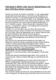 Heimspiel in Berlin oder warum Spielerfrauen - Totale Offensive BVB