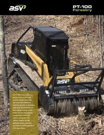 ASV PT-100 Forestry Spec Sheet - WCTractor